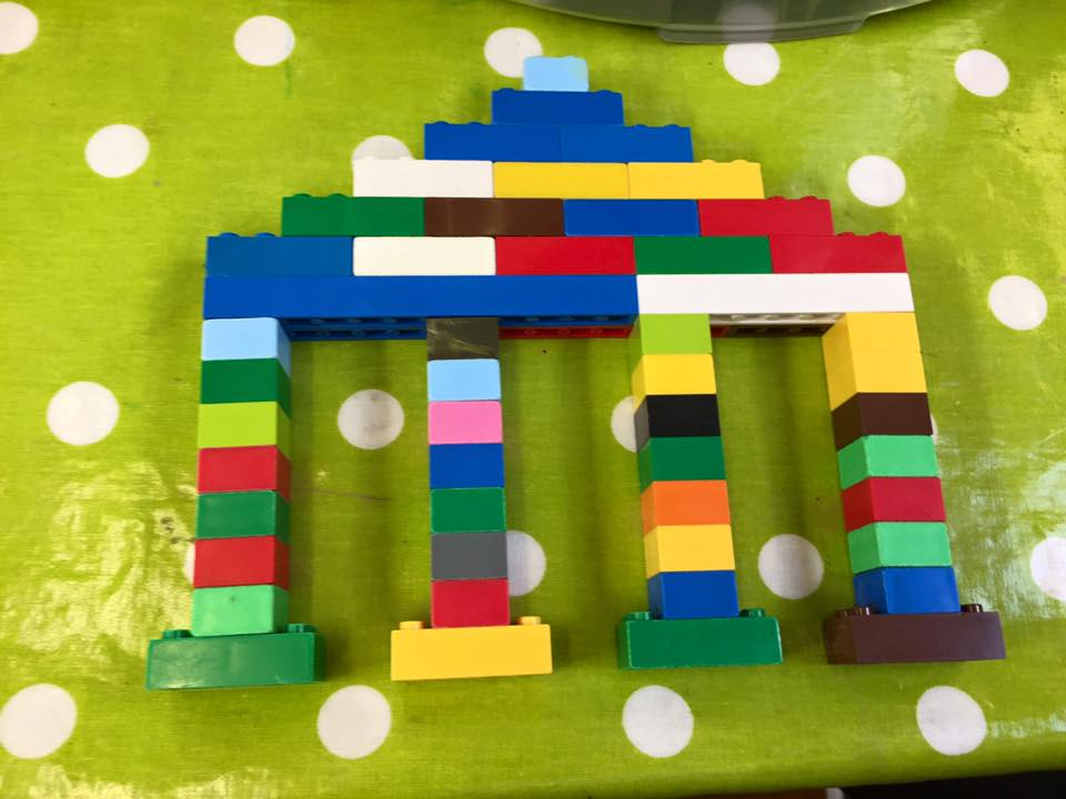 04/07/16- 15/07/16- Greece Week. We made lego Greek temples