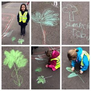 ireland-week-shamrocs-chalk